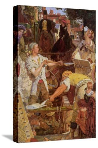Work-Ford Madox Brown-Stretched Canvas Print