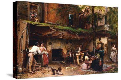Old Kentucky Home, African American Life in the South-Eastman Johnson-Stretched Canvas Print