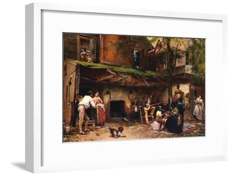Old Kentucky Home, African American Life in the South-Eastman Johnson-Framed Art Print