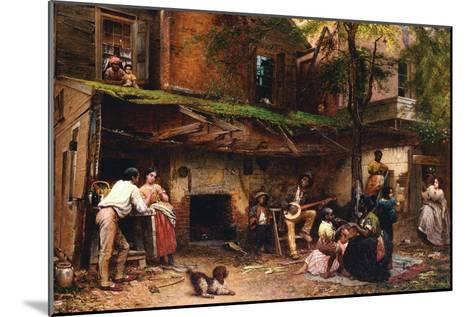 Old Kentucky Home, African American Life in the South-Eastman Johnson-Mounted Art Print