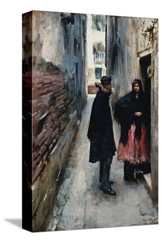 A Street in Venice-John Singer Sargent-Stretched Canvas Print