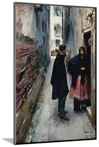 A Street in Venice-John Singer Sargent-Mounted Art Print