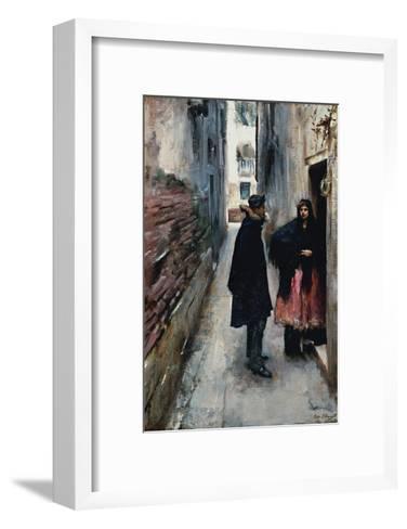 A Street in Venice-John Singer Sargent-Framed Art Print