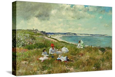 Idle Hours-William Merritt Chase-Stretched Canvas Print