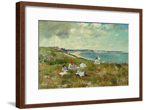 Idle Hours-William Merritt Chase-Framed Art Print