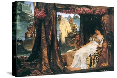 Antony and Cleopatra-Sir Lawrence Alma-Tadema-Stretched Canvas Print