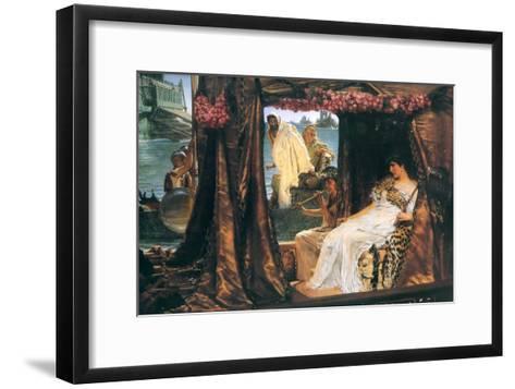Antony and Cleopatra-Sir Lawrence Alma-Tadema-Framed Art Print
