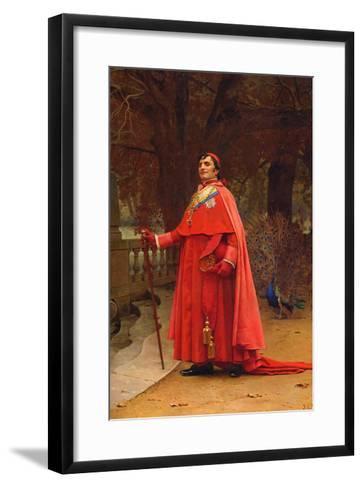 The Preening Peacock-Jean Georges Vibert-Framed Art Print