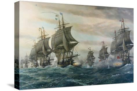 Battle of Virginia Capes-V^ Zveg-Stretched Canvas Print