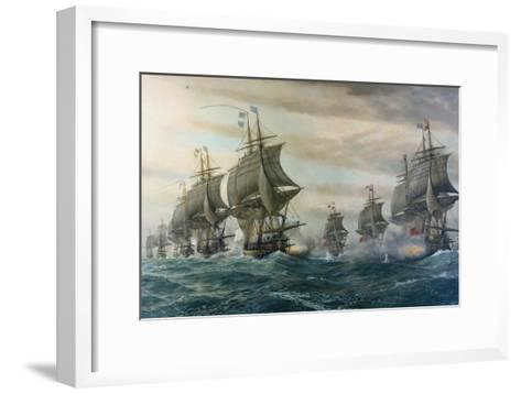 Battle of Virginia Capes-V^ Zveg-Framed Art Print