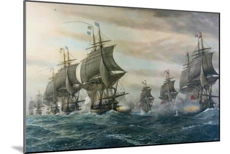 Battle of Virginia Capes-V^ Zveg-Mounted Art Print