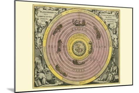 Planisphaerium Ptolemaicum-Andreas Cellarius-Mounted Art Print