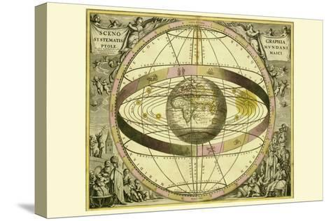 Sceno Systematis Ptolemaici-Andreas Cellarius-Stretched Canvas Print
