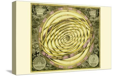 Orbium Planenarum-Andreas Cellarius-Stretched Canvas Print