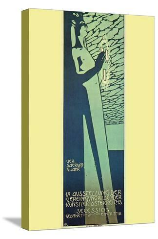 Austrian Art Exhibition-Alphonse Mucha-Stretched Canvas Print