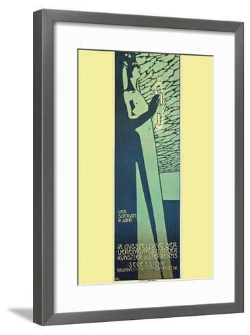 Austrian Art Exhibition-Alphonse Mucha-Framed Art Print