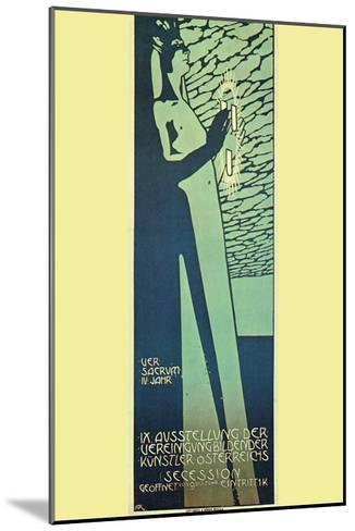 Austrian Art Exhibition-Alphonse Mucha-Mounted Art Print