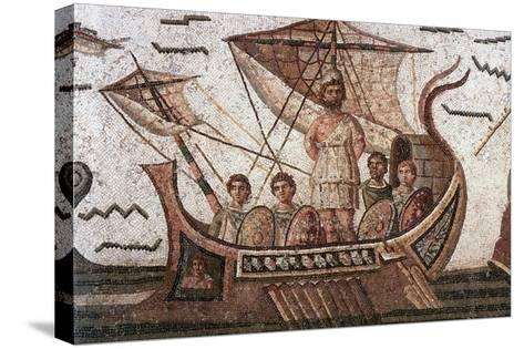 Ulysses in His Ship--Stretched Canvas Print