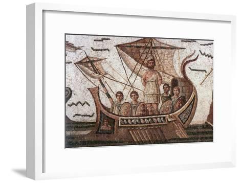 Ulysses in His Ship--Framed Art Print