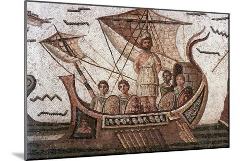 Ulysses in His Ship--Mounted Art Print