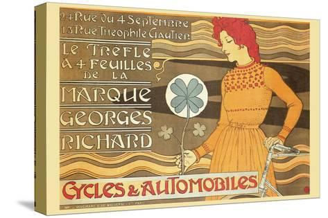 Cycles and Automobile by Marque George Richard-Alphonse Mucha-Stretched Canvas Print