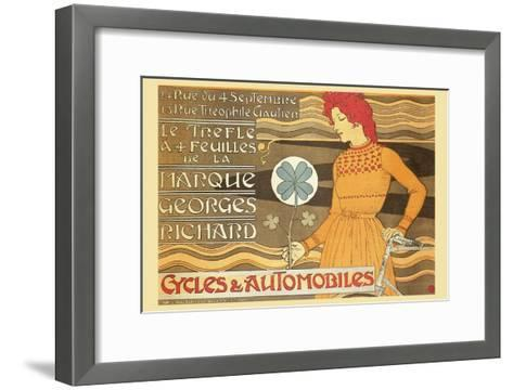 Cycles and Automobile by Marque George Richard-Alphonse Mucha-Framed Art Print