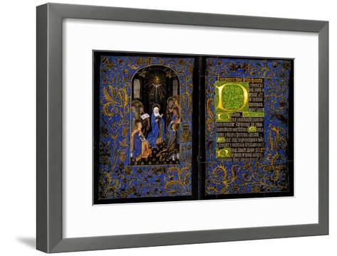Descent of the Holy Spirit; the Black Hours--Framed Art Print