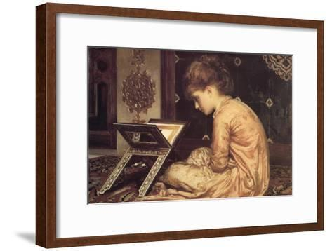 At a Reading Desk-Frederick Leighton-Framed Art Print
