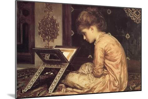 At a Reading Desk-Frederick Leighton-Mounted Art Print