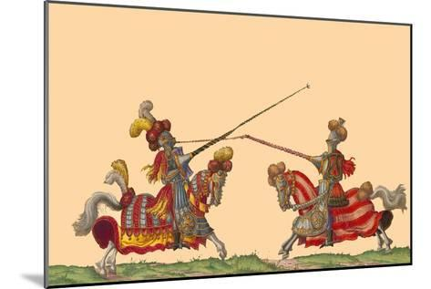 Lances at the Thrust Between Knights-Hector Mair Paulus-Mounted Art Print