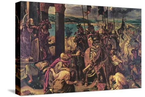 Crusaders Entering Constantinople-Eugene Delacroix-Stretched Canvas Print