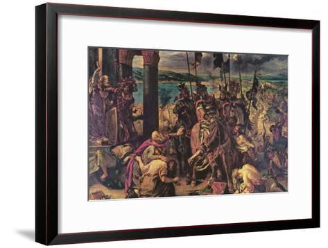 Crusaders Entering Constantinople-Eugene Delacroix-Framed Art Print