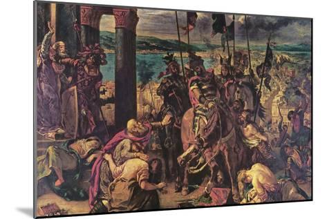 Crusaders Entering Constantinople-Eugene Delacroix-Mounted Art Print