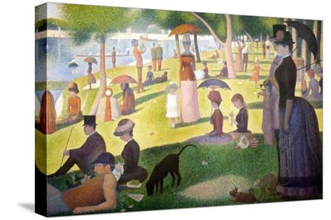 A Sunday on La Grande Jatte 1884, 1884-86-Georges Seurat-Stretched Canvas Print