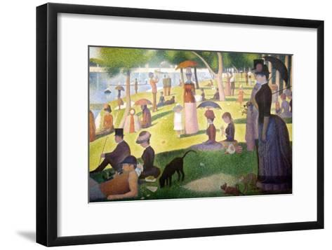A Sunday on La Grande Jatte 1884, 1884-86-Georges Seurat-Framed Art Print