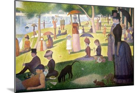 A Sunday on La Grande Jatte 1884, 1884-86-Georges Seurat-Mounted Art Print
