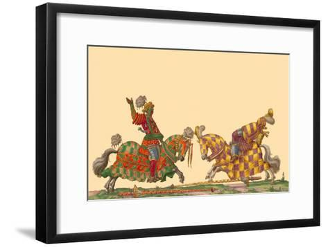 Lances at the Thrust Between Knights-Hector Mair Paulus-Framed Art Print