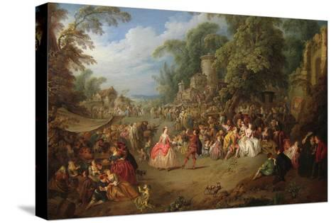 The Fair at Bezons-Jean-Baptiste Pater-Stretched Canvas Print