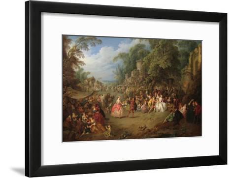 The Fair at Bezons-Jean-Baptiste Pater-Framed Art Print