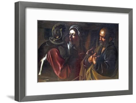 Denial of St. Peter-Caravaggio-Framed Art Print