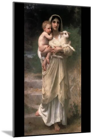 Lambs-William Adolphe Bouguereau-Mounted Art Print
