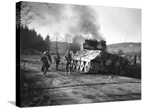 WWII Battle of the Bulge-Peter J^ Carroll-Stretched Canvas Print
