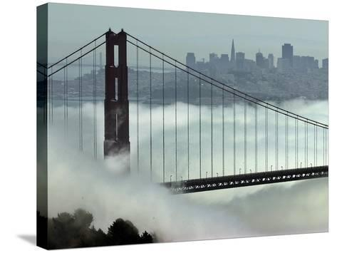 San Francisco Golden Gate Bridge-Paul Sakuma-Stretched Canvas Print