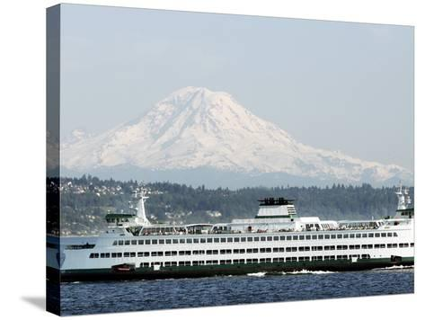 Mount Rainier-Ted S^ Warren-Stretched Canvas Print