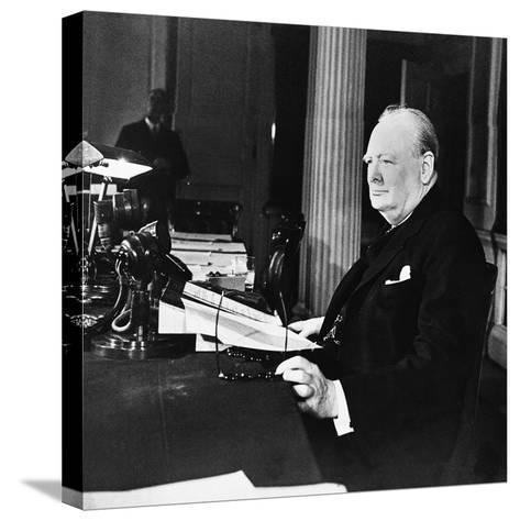 Winston Churchill--Stretched Canvas Print