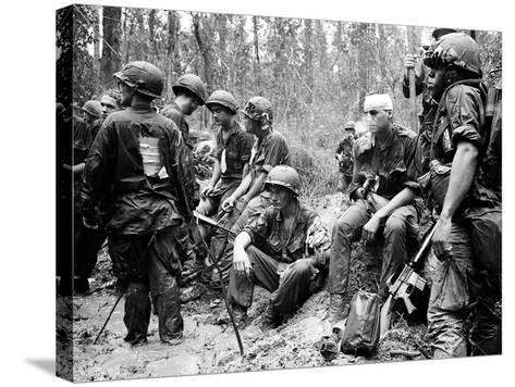Vietnam War - U.S. Army Zone D-Henri Huet-Stretched Canvas Print
