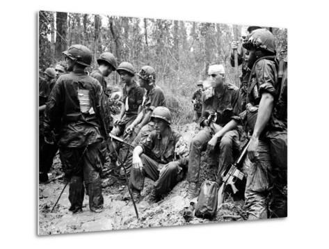Vietnam War - U.S. Army Zone D-Henri Huet-Metal Print