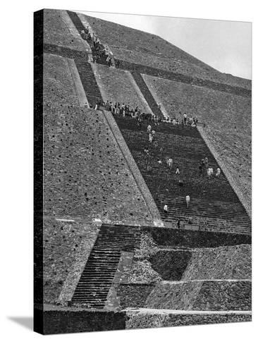 Mexico Excavations-George Brich-Stretched Canvas Print