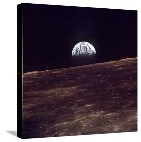 Apollo 8 Earth--Stretched Canvas Print