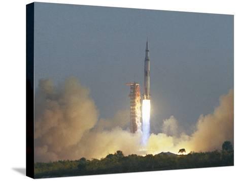 Saturn V Rocket--Stretched Canvas Print